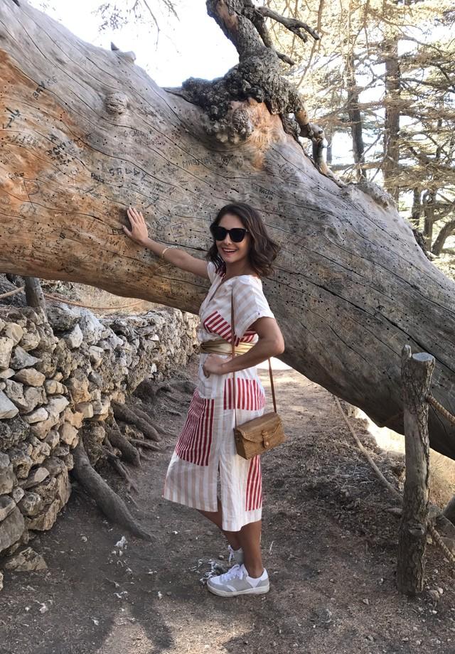 Camilla Guebur visita o Líbano (Foto: arquivo pessoal)