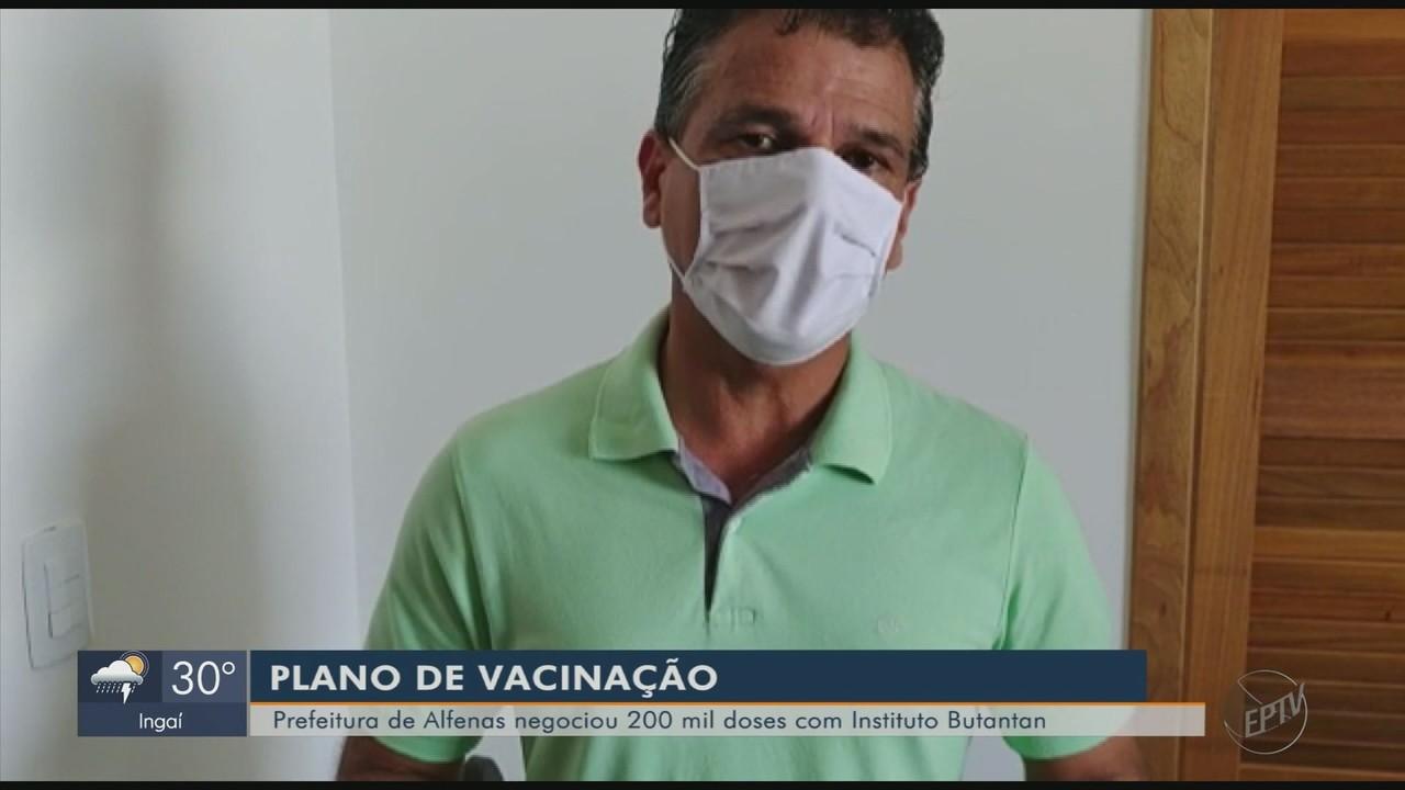 Alfenas anuncia compra de 200 mil doses de vacina contra o novo coronavírus
