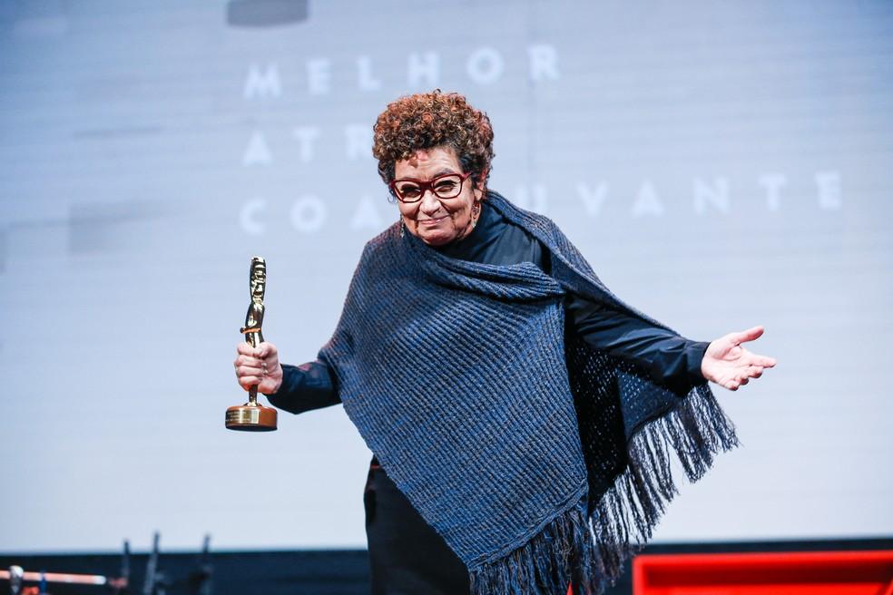 Sôia Lira foi reconhecida no Festival de Cinema de Gramado e levou o prêmio de melhor atriz coadjuvante — Foto: Edison Vara/Agência Pressphoto