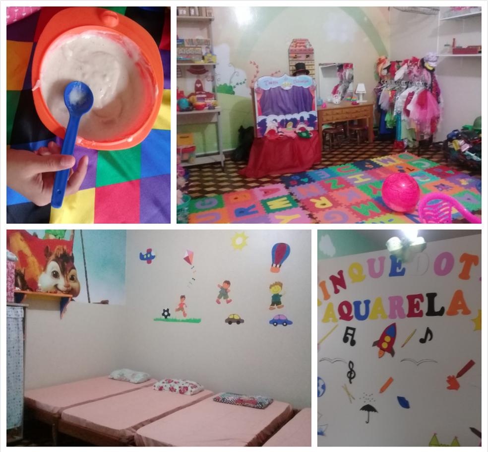 Crianças recebem carinho e apoio nos abrigos (Foto: Fotos e Arte: Luiz Fernandes e G1/Pará )