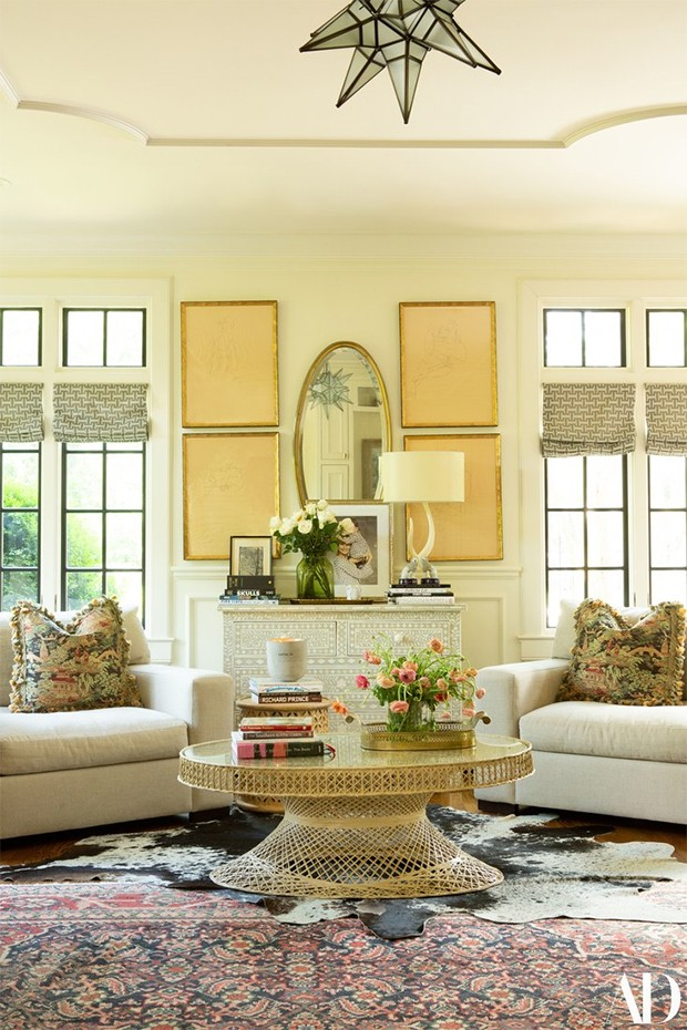 Casa da supermodelo Lily Aldridge (Foto:  Leslee Mitchell/ Architectural Digest/ Divulgação)