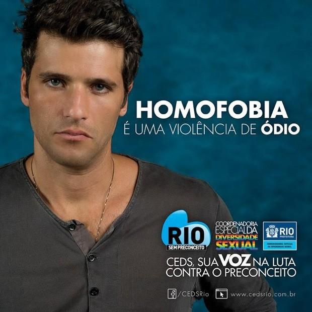 Bruno Gagliasso na campanha contra a fobia LGBTI (Foto: Reprodução)