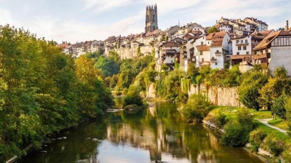 Fribourg, na Suíça — Foto: Região Fribourg
