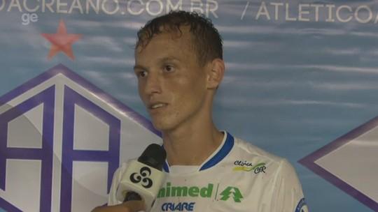 """Diogo minimiza artilharia e destaca: """"Meta é ser campeão e buscar o acesso pra Série B"""""""