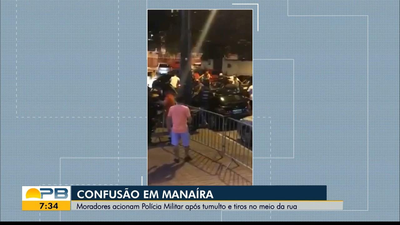 Vídeo mostra briga generalizada em rua do bairro de Manaíra, em João Pessoa