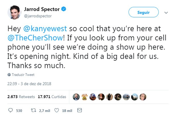Kanye West toma bronca de ator após mexer no celular em estreia de peça (Foto: Reprodução/Twitter)