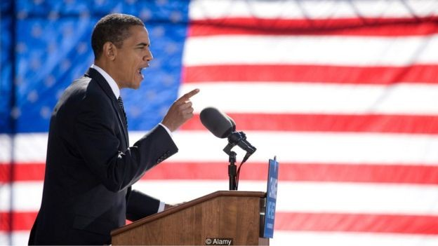 Na campanha presidencial de 2008, Obama prestou homenagem ao legado deixado por Martin Luther King (Foto: Alamy via BBC News Brasil)