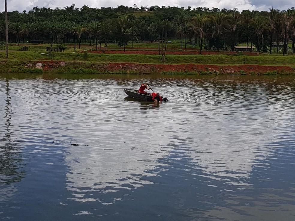 Afogamento ocorreu em uma chácara em Rondonópolis (Foto: Corpo de Bombeiros de MT/Assessoria)