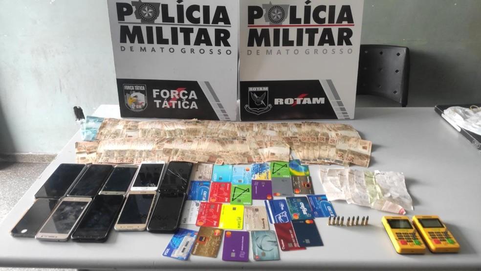 Outra 'central de golpes' foi descoberta no início da semana — Foto: PM-MT/Divulgação