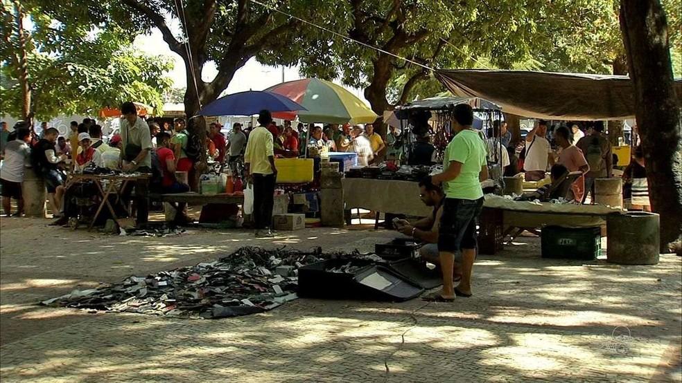 Praça José de Alencar — Foto: TV Verdes Mares/Reprodução