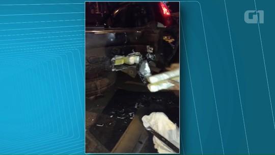 PRF apreende 30 kg de cocaína em fundo falso de carro em rodovia do Paraná