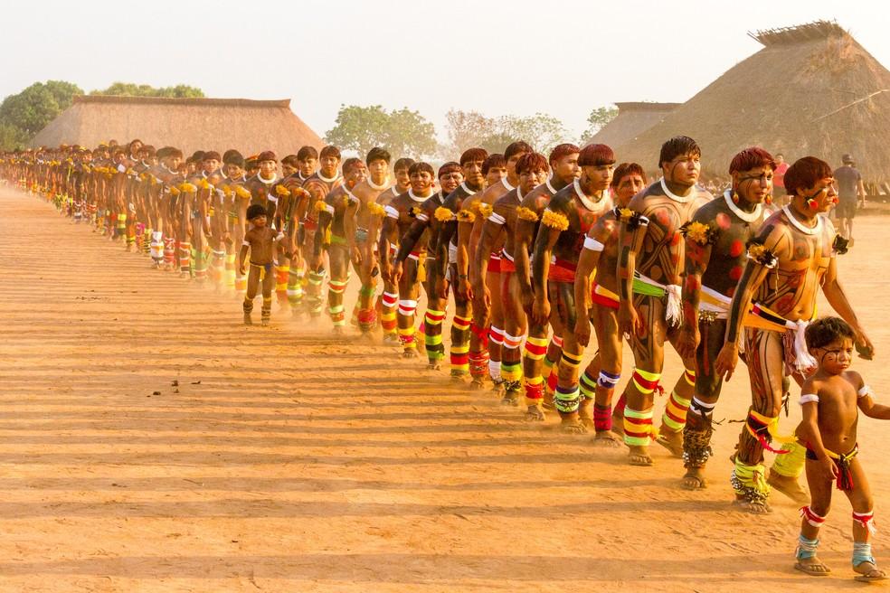 Indígenas do médio Xingu vão receber cestas básicas e kits de higiene por ordem da Justiça Federal — Foto: Meneguini/Gcom-MT