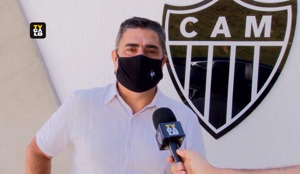 Sette Câmara, presidente do Atlético-MG — Foto: Reprodução/TV Galo