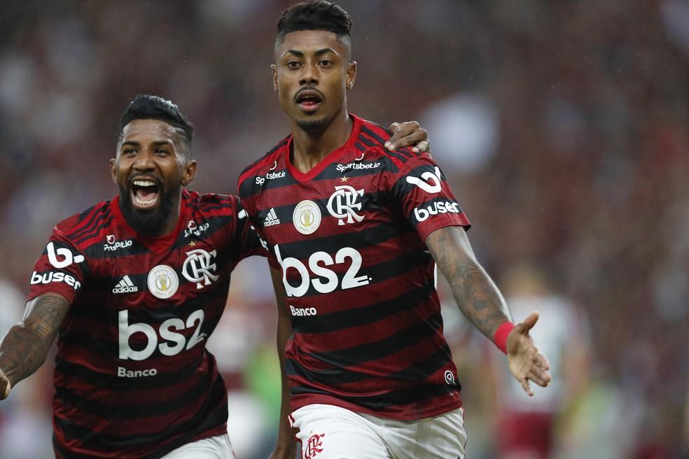 Bruno Henrique marcou contra o Fluminense em 2019 — Foto: Marcelo de Jesus/Agência Estado