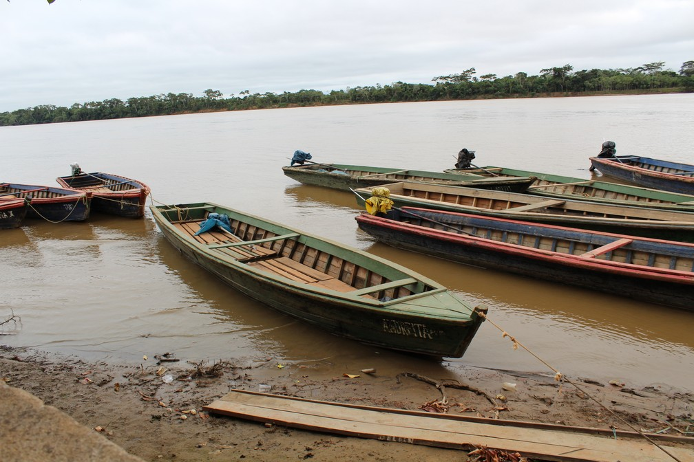 Sem exportações, barcos estão vazios  (Foto: Júnior Freitas / G1 RO )