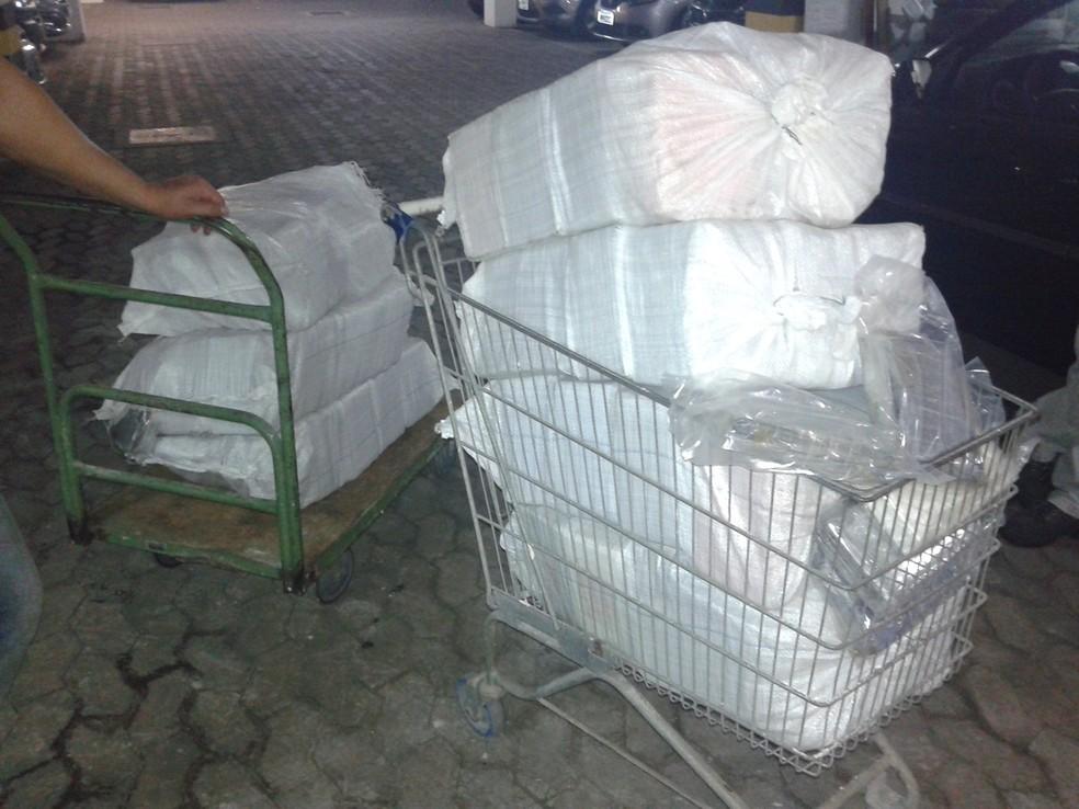 Droga apreendida pela Polícia federal em Vila Velha (Foto: Divulgação/PF-ES)