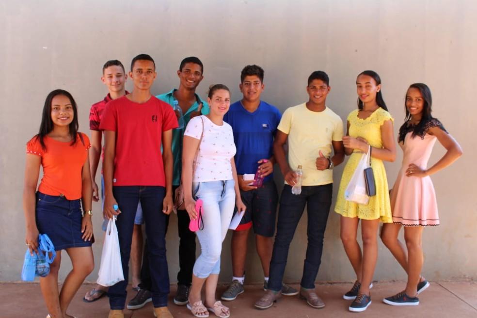 Grupo de Nova Mamoré viajou 100 Km para fazer a prova — Foto: Fabiano do Carmo/G1