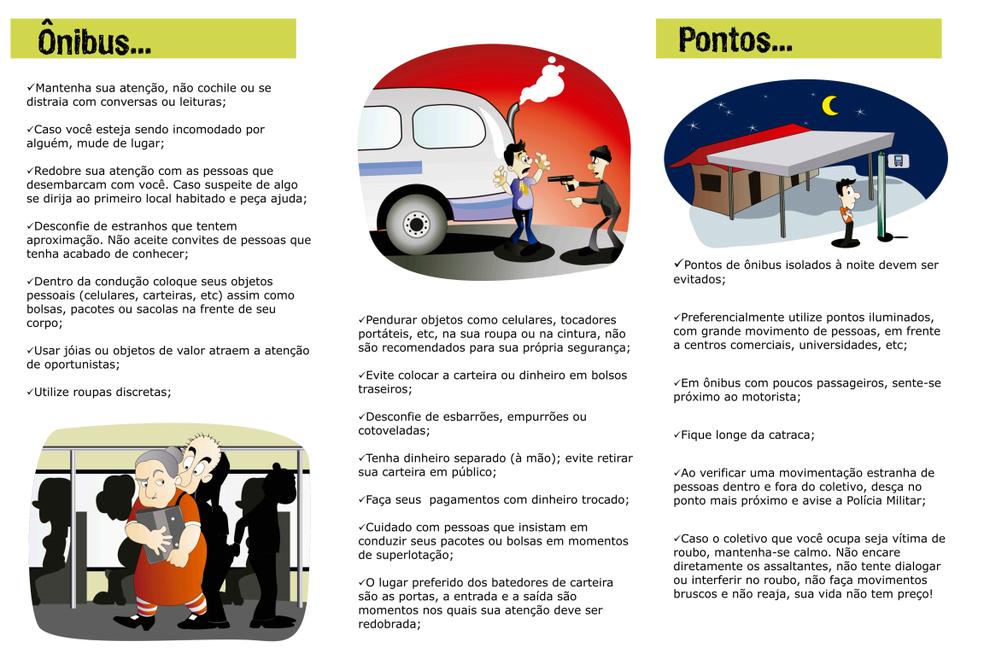 Cartilha dá orientações para passageiros contra  crimes (Foto: Divulgação)
