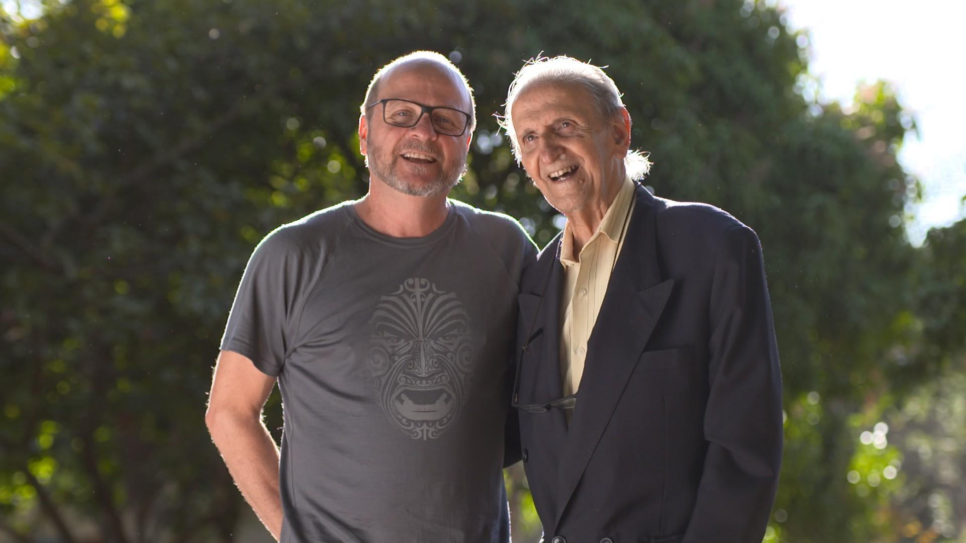 Plínio Targa, atual CEO da Braincare, e o físico e químico Sérgio Mascarenhas de Oliveira  (Foto: Divulgação)