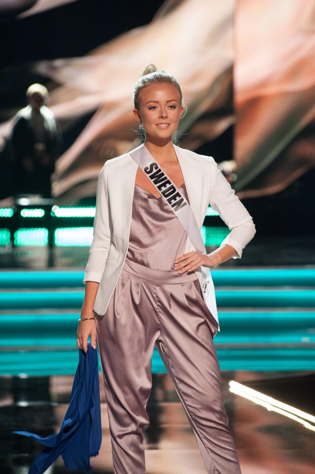 Frida Fornander, Miss Suécia (Foto: Patrick Prather/Miss Universe Organization/AFP)