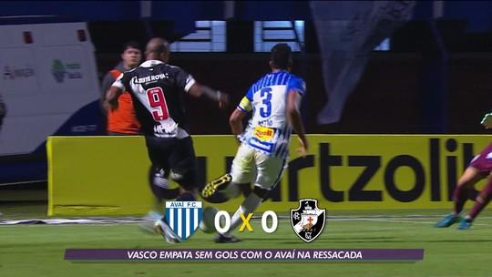 Vasco empata sem gols com o Avaí na Ressacada