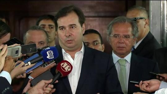 Equipe econômica comemora fala de Rodrigo Maia após encontro com Paulo Guedes