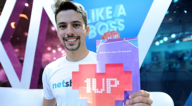 Daniel Arcoverde, da Netshow.me, vencedor da final do Like a Boss 1UP (Foto: Sebrae)
