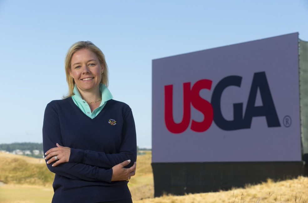 Sarah Hirshland emitiu novo comunicado sobre o posicionamento dos USOPC em relação aos Jogos de Tóquio — Foto: Divulgação/USGA