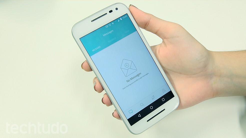 Interface do Sarahah para Android (Foto: Ana Marques/TechTudo)
