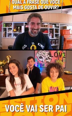 Marcos Mion respondeu perguntas dos filhos (Foto: Reprodução)