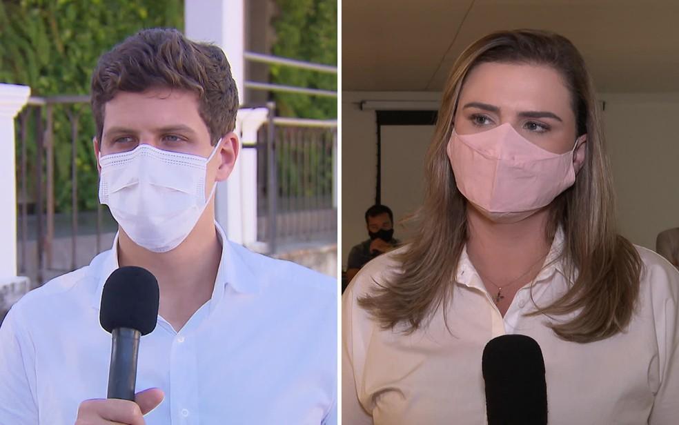 João Campos (PSB) e Marília Arraes (PT) disputam o segundo turno pela prefeitura do Recife — Foto: Reprodução/TV Globo