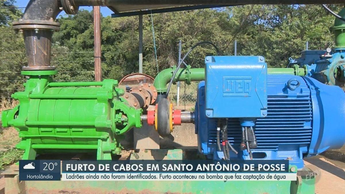Santo Antônio de Posse aciona polícia após perder R$ 30 mil com furto de cabos que parou serviço de água; vídeo mostra crime