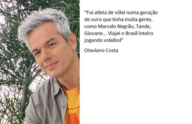 Antes de seguir pela carreira artística, Otaviano Costa foi jogador de vôlei (Foto: Reprodução)