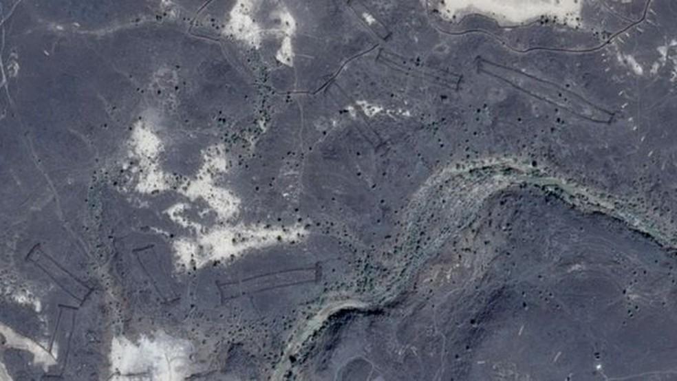 Segundo especialista, essa região tinha clima e vegetação diferentes do deserto de hoje (Foto: Google Earth/Reprodução)