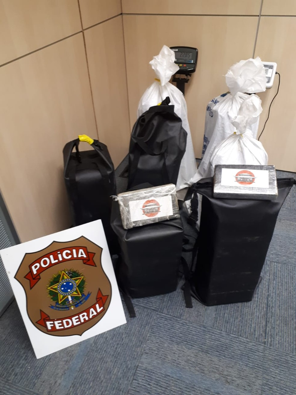 Polícia Federal contabilizou 2,8 toneladas de cocaína até a tarde deste sábado (3) — Foto: Polícia Federal/Divulgação