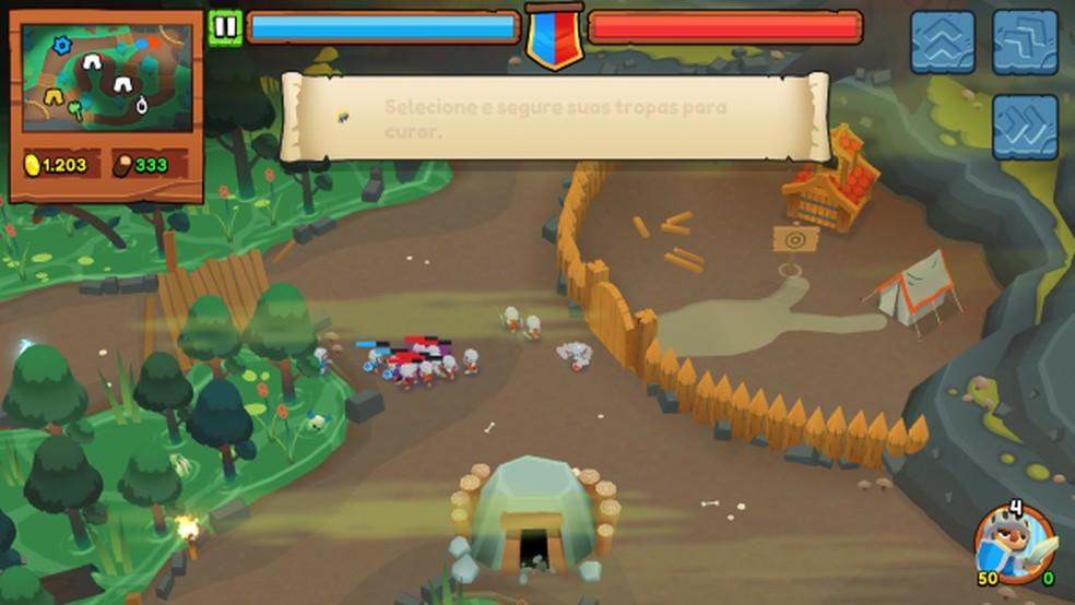 Batalhas podem acontecer contra inteligência artificial ou outros jogadores — Foto: Reprodução/Thaime Lopes