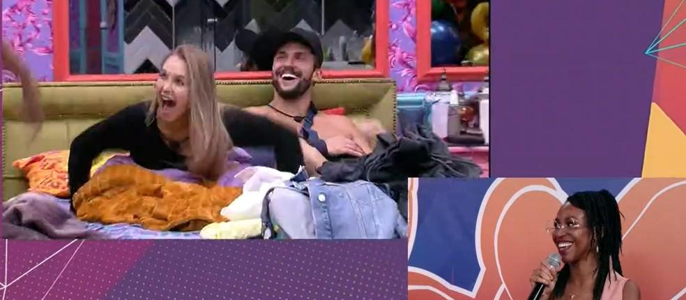Karol Conká fala de Carla Diaz em vídeo no BBB — Foto: Globo