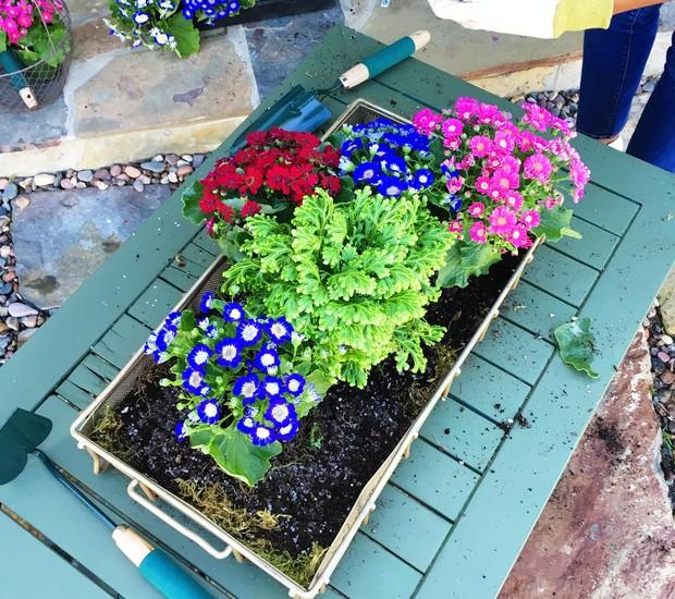 Caixa de flores: Coloque uma a uma as flores escolhidas (Foto: Cococozy/Reprodução)