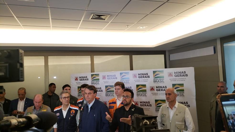 Bolsonaro anuncia quase R$ 1 bi em recursos federais para estados atingidos pelas chuvas — Foto: Fabiana Almeida/TV Globo
