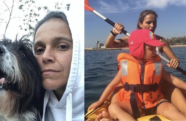Tina, do 'BBB' 2, mora há 17 anos em Barcelona e tem três filhos (Foto: Reprodução)