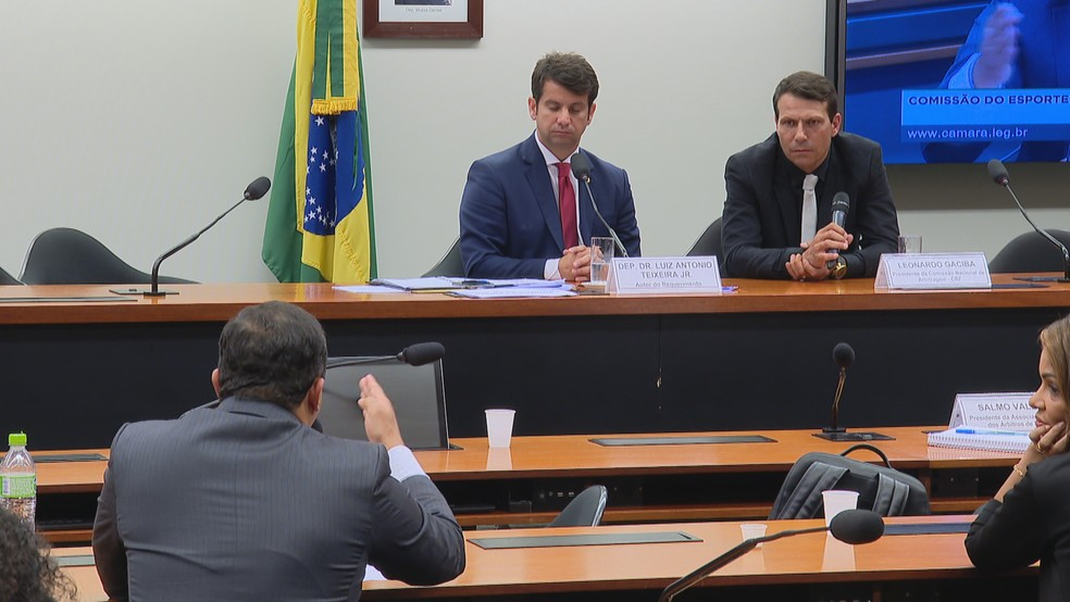 Deputados questionaram Gaciba sobre possibilidade de desafio do VAR — Foto: Reprodução/TV Globo