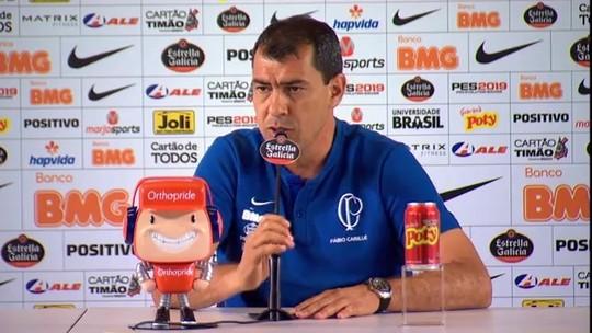 """Carille lamenta placar, mas elogia atuação do Corinthians: """"Mostra que está no caminho certo"""""""