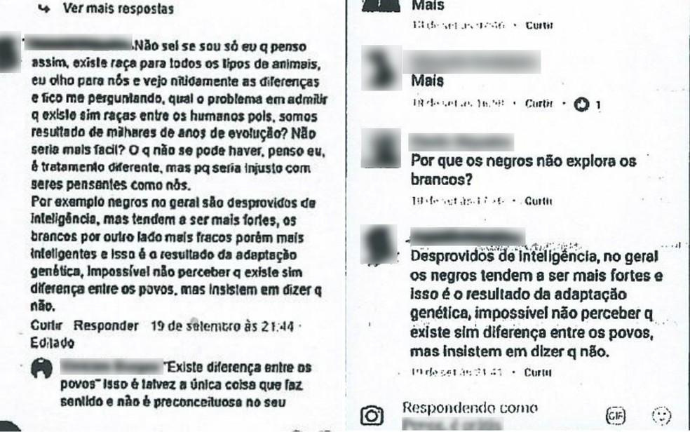 Em publicações no Facebook, morador de Ribeirão Preto diz que negros são 'desprovidos de inteligência' — Foto: Reprodução