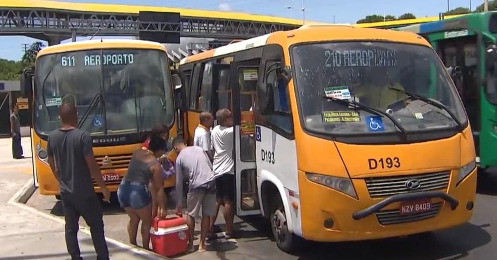 Operação emergencial de transporte é montada para quarta-feira em Salvador — Foto: Reprodução/TV Bahia