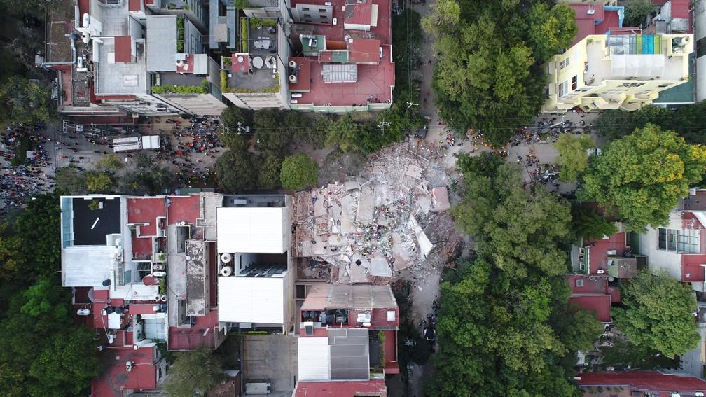 Mochileiro mineiro registra pós-terremoto no México com drone (Foto: Carlos Sandoval/Mayke Moraes/@soumochileiro)
