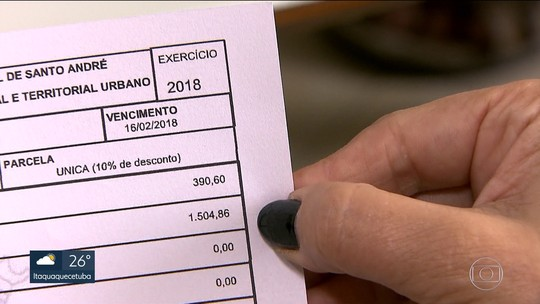 Aumento de até 75% no IPTU assusta moradores de Santo André