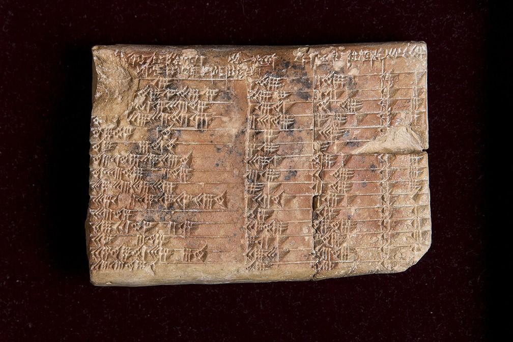 Tábua Plimpton 322 tem 3.700 anos de idade (Foto: UNSW/Andrew Kelly)