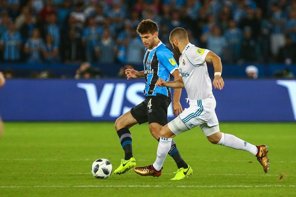Em 2017, Grêmio foi a última equipe brasileira a participar da competição e deve garantir vaga no formato novo — Foto: Lucas Uebel/Divulgação Grêmio