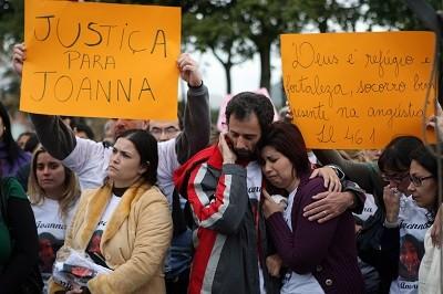 Manifestação por Joanna