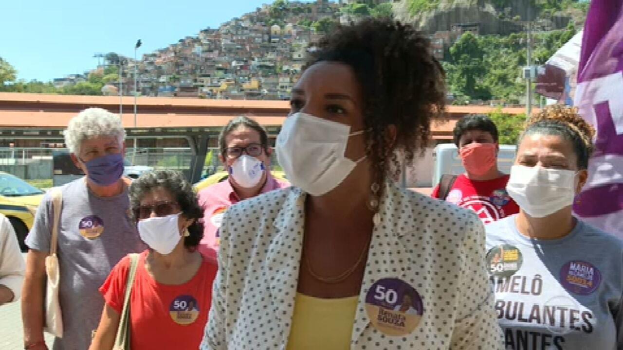 Renata Souza (PSOL) faz campanha na Zona Portuária